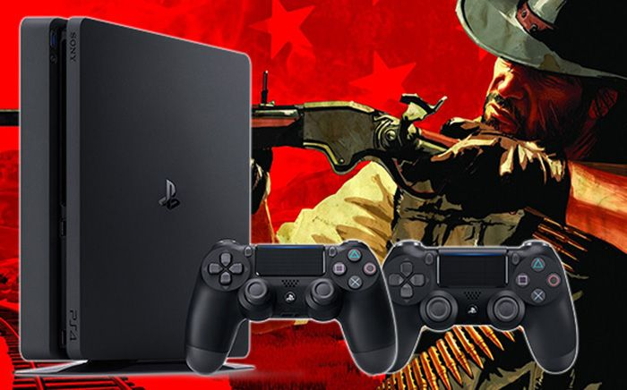 SONY PS4 slim 1TB + DS4 controler + Red Dead Redemption 2
