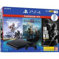 SONY PS4 PlayStation 4 slim 1TB + Horizon + God of War + The Last of Us